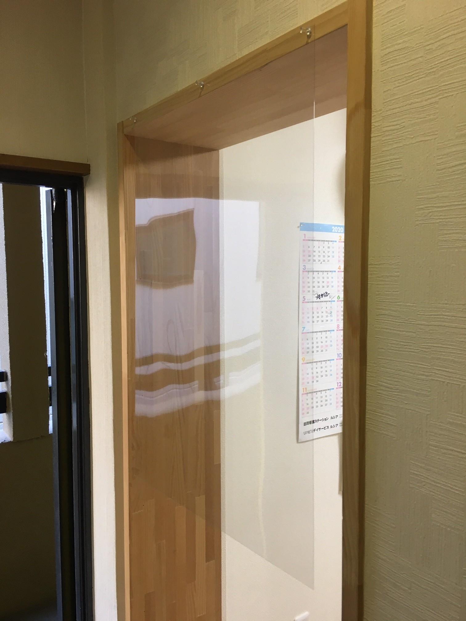 飛沫感染防止対策 透明PETシート(透明PETフィルム)製作